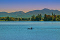 Lake placid new york view of Stock Photography