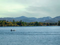 Lake placid new york view of Royalty Free Stock Photos