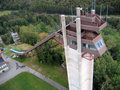Lake Placid Ski Jumps in Summer Stock Images