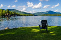 Lake Placid Summer Royalty Free Stock Photo