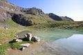 Lake Plan Borgno Stock Images