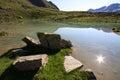 Lake Plan Borgno Royalty Free Stock Photography