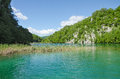 Lake of plitvice turquoise color croatia Stock Photos