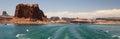 Lake Powell Boating Panorama Royalty Free Stock Photo