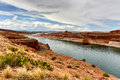 Lake Powell from the Glen Canyon Dam Royalty Free Stock Photo