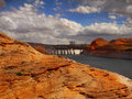 Lake Powell - Glen Canyon Dam, Utah - Arizona Royalty Free Stock Photo