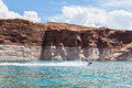 Lake Powell, in Glen Canyon  in Utah and Arizona Royalty Free Stock Image