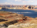 Lake Powell Marina, Glen Canyon Royalty Free Stock Photo
