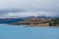 Lake Punkaki near Aoraki/Mt.Cook national park, New Zealand Royalty Free Stock Photo