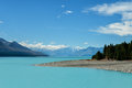 Lake pukaki mount cook new zealand Stock Image
