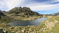 Lake in the Pyrenees Royalty Free Stock Photo