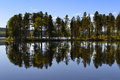 Lake with reflection Royalty Free Stock Photo
