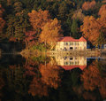 Lake reflections in fall Royalty Free Stock Photo