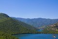 Lake in Rodopi mountains 2 Royalty Free Stock Photos