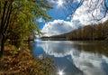 Lake Santa Fe, Montseny. Spain Royalty Free Stock Photo