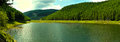 Lake scenery a beautiful of a in romania Royalty Free Stock Images