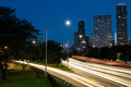Lake shore drive from north beach bridge Stock Image