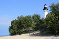 Lake shore lighthouse Royalty Free Stock Photos