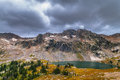Lake solitude grand tetons as seen from paintbrush divide Royalty Free Stock Photos