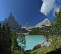 Lake Sorapis in the Dolomites 1 Stock Images