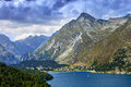 Lake of st moritz landscape the Stock Photo