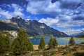 Lake of st moritz landscape the Royalty Free Stock Photography