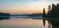 Lake Sunrise in Parc de la Mauricie quebec panorama Royalty Free Stock Photo