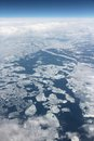 Lake superior aerial view of drift ice Stock Image