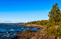 Lake superior coastline rugged at the north shore of Stock Photo