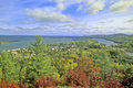 Lake Superior from the Copper Harbor, Keweenaw Peninsula, MI Royalty Free Stock Photo