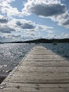 Lake superior in grand marais minnesota harbor on Stock Photo