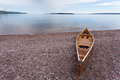 Lake Superior Ontario Canada canoe water landscape Royalty Free Stock Photo