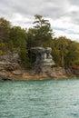 Lake Superior Rock Formation Royalty Free Stock Photo