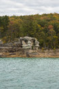 Lake Superior Rock Formation Royalty Free Stock Photo