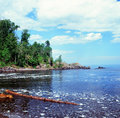 A Lake Superior Summerscape - Minnesota Royalty Free Stock Photo