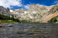 Lake Surrounded by Colorado Rocky Mountains Royalty Free Stock Photography