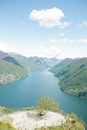 Lake in Switzerland Royalty Free Stock Image