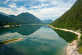 Lake Sylvensteinsee in Bavaria Stock Photo