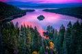 Lake tahoe high angle view of a sierra nevada california usa Stock Photography