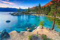 Lake Tahoe at sunset Royalty Free Stock Photo