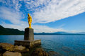 Lake Tazawa, Japan. Royalty Free Stock Photo