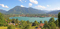 Lake tegernsee and rottach-egern Royalty Free Stock Photo