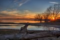 Lake Texoma sunset Royalty Free Stock Photo