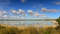 Lake Thetis and its reflection Royalty Free Stock Photo