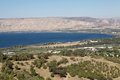 Lake tiberias landscape israel the sea of galilee Stock Photography