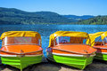 Lake titisee black forest germany boat rental Stock Image