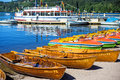 Lake titisee black forest germany boat rental Royalty Free Stock Image
