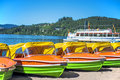Lake titisee black forest germany boat rental Royalty Free Stock Images