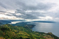Lake toba aerial view of in north sumatra indonesia Stock Images
