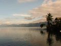 Lake toba morning at in sumatra island indonesia Royalty Free Stock Image